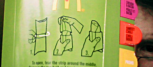 Okay. Then what? Complicated wrapper for the McWrap.
