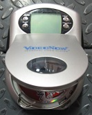 Inserting disc into VideoNow