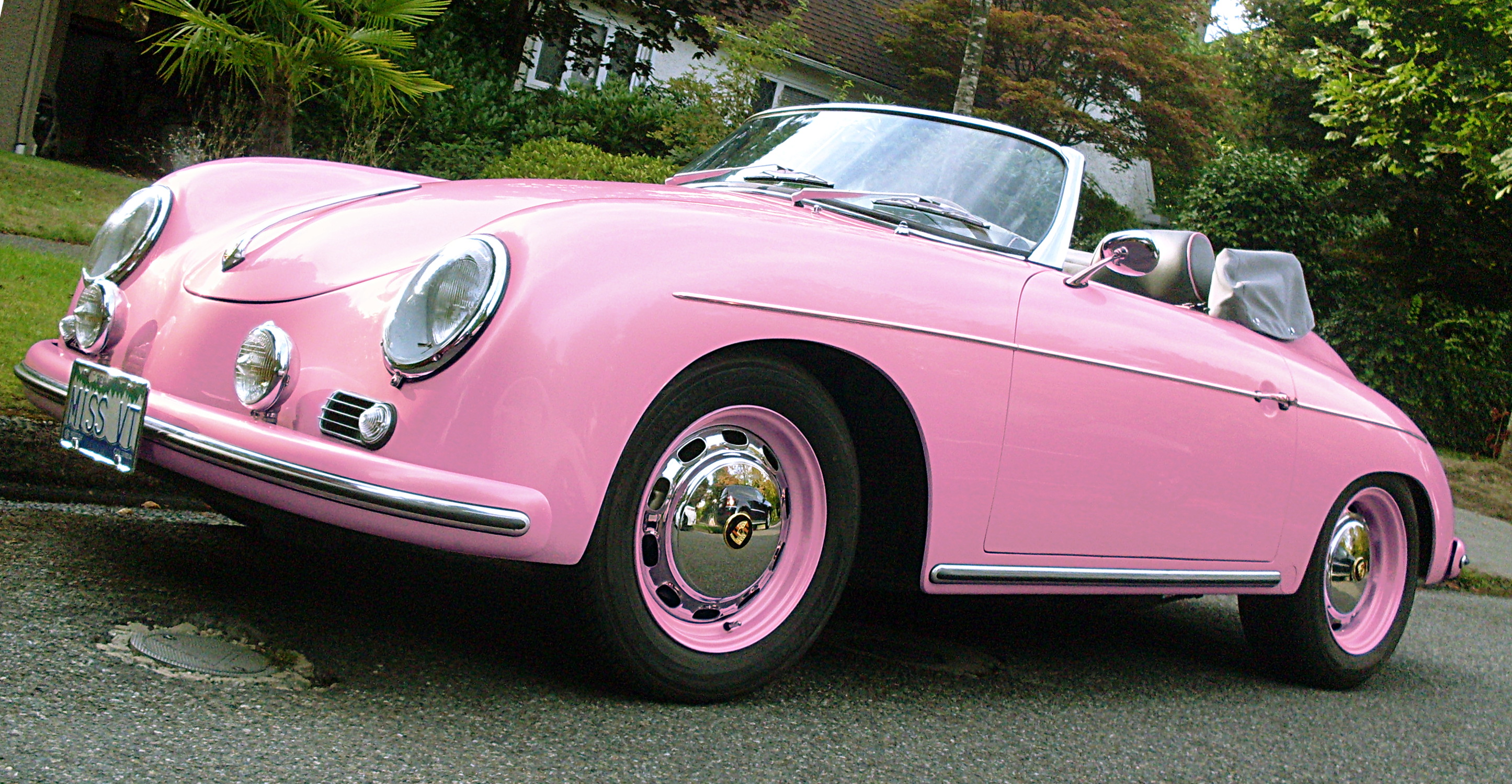 hot pink porsche 356 speedster sqwabb. Black Bedroom Furniture Sets. Home Design Ideas