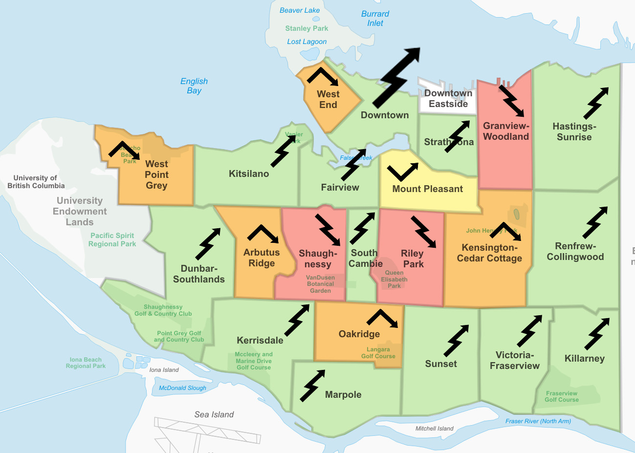 Vancouver Neighbourhoods Map Vancouver's growing pains | sqwabb