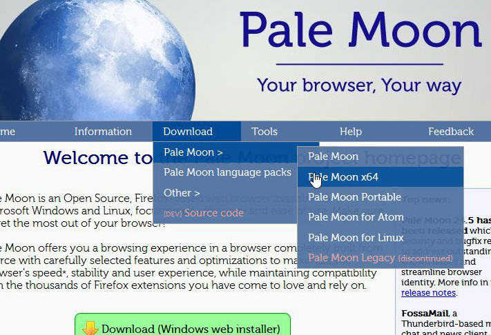Firefox, fired fox! Switching to Pale Moon   sqwabb