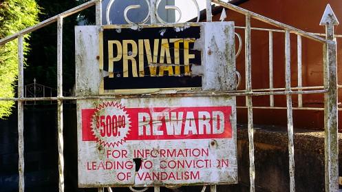 Vandalism sign