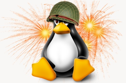 Tux, the Linux mascot reportedly suffering from PTSD (Penguin Traumatic Stress Disorder).