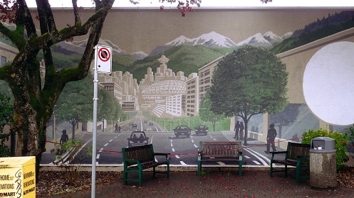 The new mural on the Starbucks at Cambie and 19th.