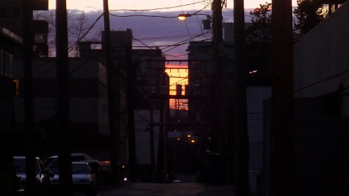 alley-sunset