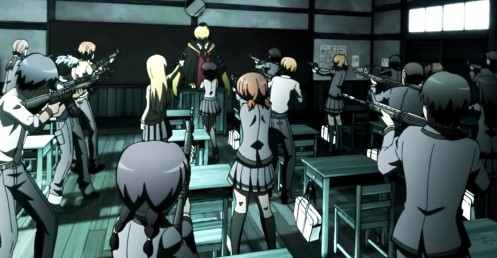 The first day in the Assassination Classroom anime series.