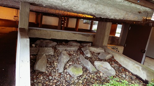 Nobody's losing sleep over these rocks which happen to deter homeless layabouts.