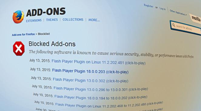 Firefox blocks Flash versions  Facebook says kill it | sqwabb