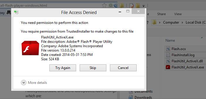 Getting permission to uninstall Flash Player | sqwabb