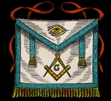 Shake those tassels! A third degree Master Mason apron.