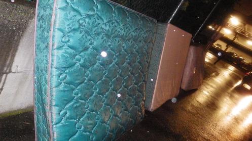 Three mattresses off Oak Street and 12th Avenue.