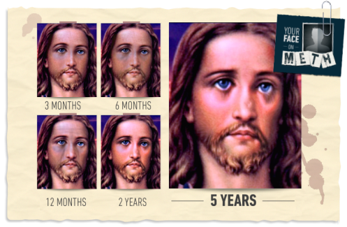 Jesus H. Christ! But he looks terrible!
