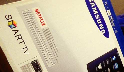 Someone just got themselves a Samsung Series 5 smart TV.