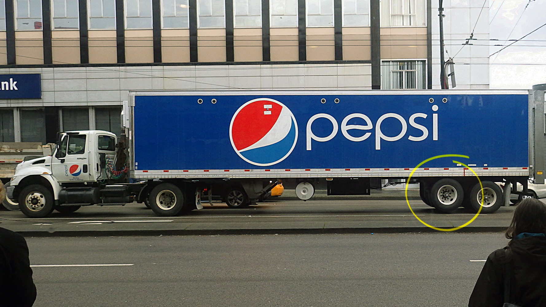 Saw a Pepsi delivery truck doing a wheelie | sqwabb