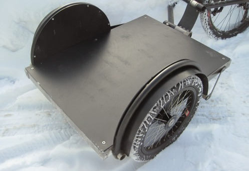 A Surly Ted trailer modded with a plastic bed over the steel frame.—Surly/Brother David Sunshine