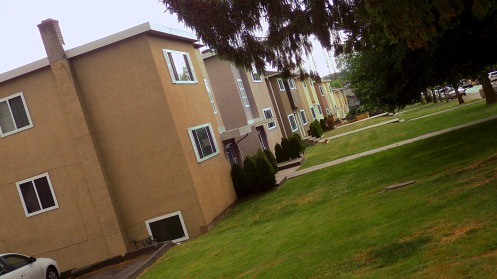 The front of the duplexes on the 19th Avenue side.