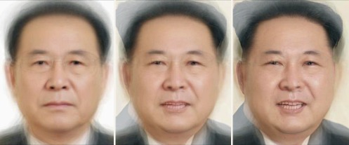 A composite of 27 North Korean leaders with and extra dash of the supreme