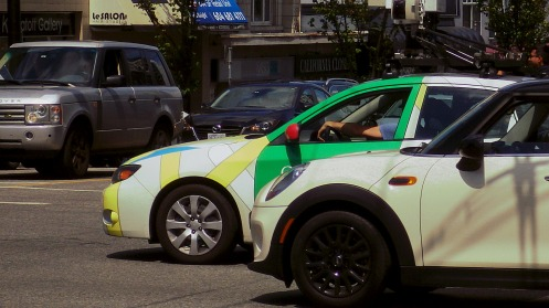 Ho hum, just anther day at the wheel of a Google Maps Street View car for this guy.