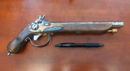 The image of the replica firearm seized by the Transit Police,—Transit Police