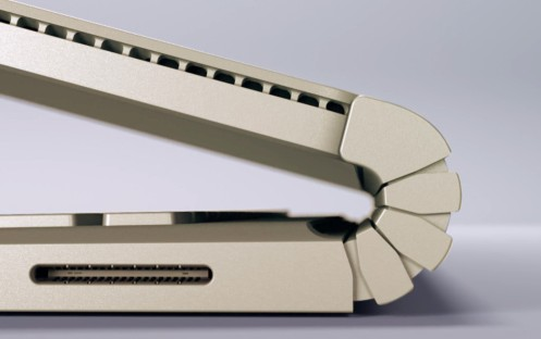 Closeup of the Surface Book hinge.—Microsoft