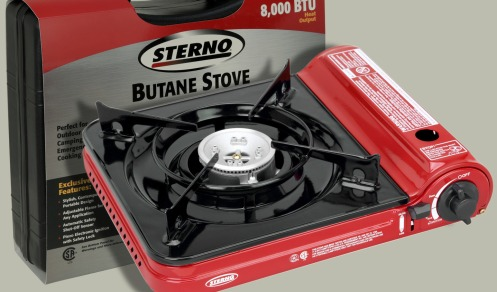 The Sterno-brand style of camping stove was recalled in 2010 for risk of fire.